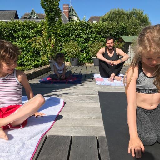 family yoga class